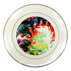 Background Art Abstract Watercolor Porcelain Plates by Nexatart