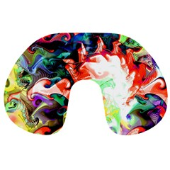 Background Art Abstract Watercolor Travel Neck Pillows