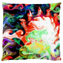 Background Art Abstract Watercolor Large Flano Cushion Case (two Sides) by Nexatart