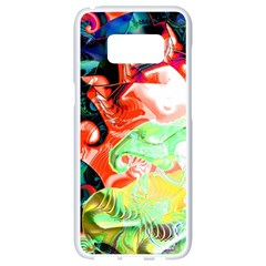 Background Art Abstract Watercolor Samsung Galaxy S8 White Seamless Case