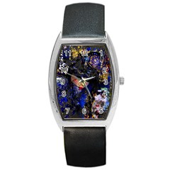 Mask Carnaval Woman Art Abstract Barrel Style Metal Watch by Nexatart