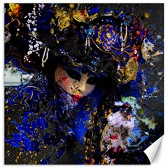 Mask Carnaval Woman Art Abstract Canvas 12  X 12   by Nexatart