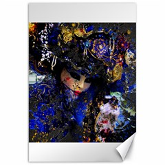 Mask Carnaval Woman Art Abstract Canvas 20  X 30
