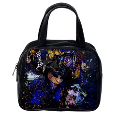 Mask Carnaval Woman Art Abstract Classic Handbags (one Side)