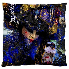Mask Carnaval Woman Art Abstract Large Cushion Case (one Side)