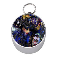Mask Carnaval Woman Art Abstract Mini Silver Compasses by Nexatart