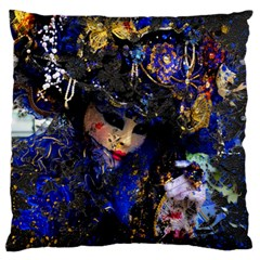 Mask Carnaval Woman Art Abstract Large Flano Cushion Case (one Side) by Nexatart