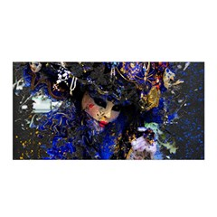 Mask Carnaval Woman Art Abstract Satin Wrap