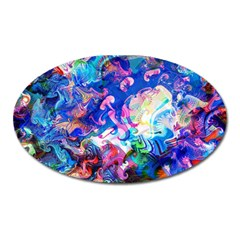 Background Art Abstract Watercolor Oval Magnet by Nexatart