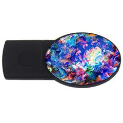 Background Art Abstract Watercolor Usb Flash Drive Oval (4 Gb) by Nexatart