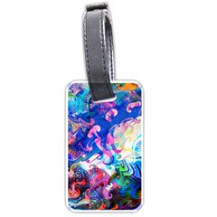 Background Art Abstract Watercolor Luggage Tags (one Side)  by Nexatart