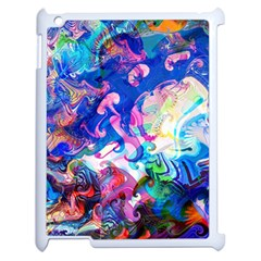 Background Art Abstract Watercolor Apple Ipad 2 Case (white) by Nexatart