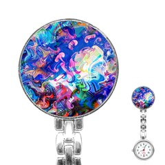 Background Art Abstract Watercolor Stainless Steel Nurses Watch by Nexatart