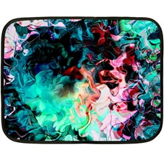 Background Art Abstract Watercolor Double Sided Fleece Blanket (mini)