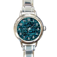 Wall Metal Steel Reflexions Round Italian Charm Watch by Nexatart