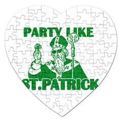 St  Patricks Day  Jigsaw Puzzle (heart) by Valentinaart