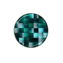 Background Squares Metal Green Hat Clip Ball Marker (4 Pack)