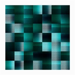 Background Squares Metal Green Medium Glasses Cloth by Nexatart