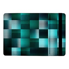 Background Squares Metal Green Samsung Galaxy Tab Pro 10 1  Flip Case by Nexatart