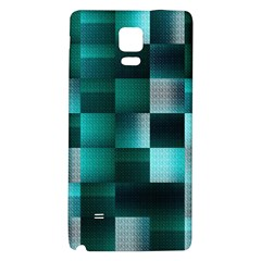 Background Squares Metal Green Galaxy Note 4 Back Case by Nexatart