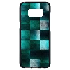 Background Squares Metal Green Samsung Galaxy S8 Black Seamless Case by Nexatart