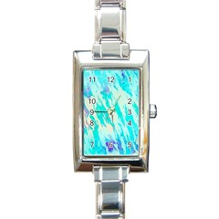 Blue Background Art Abstract Watercolor Rectangle Italian Charm Watch by Nexatart