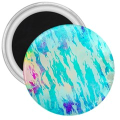 Blue Background Art Abstract Watercolor 3  Magnets by Nexatart