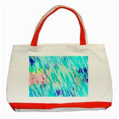Blue Background Art Abstract Watercolor Classic Tote Bag (red)