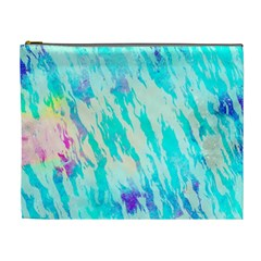 Blue Background Art Abstract Watercolor Cosmetic Bag (xl) by Nexatart