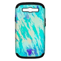 Blue Background Art Abstract Watercolor Samsung Galaxy S Iii Hardshell Case (pc+silicone) by Nexatart