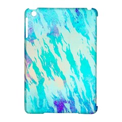 Blue Background Art Abstract Watercolor Apple Ipad Mini Hardshell Case (compatible With Smart Cover) by Nexatart