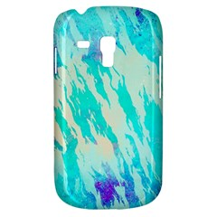Blue Background Art Abstract Watercolor Galaxy S3 Mini by Nexatart