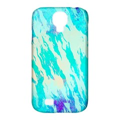 Blue Background Art Abstract Watercolor Samsung Galaxy S4 Classic Hardshell Case (pc+silicone)