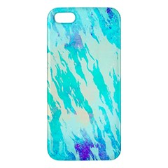 Blue Background Art Abstract Watercolor Iphone 5s/ Se Premium Hardshell Case