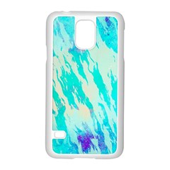 Blue Background Art Abstract Watercolor Samsung Galaxy S5 Case (white)
