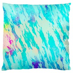 Blue Background Art Abstract Watercolor Large Flano Cushion Case (one Side) by Nexatart