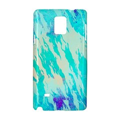Blue Background Art Abstract Watercolor Samsung Galaxy Note 4 Hardshell Case by Nexatart