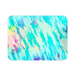 Blue Background Art Abstract Watercolor Double Sided Flano Blanket (mini)