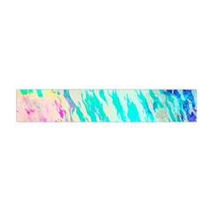 Blue Background Art Abstract Watercolor Flano Scarf (mini)