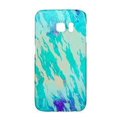 Blue Background Art Abstract Watercolor Galaxy S6 Edge by Nexatart