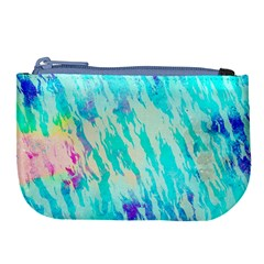 Blue Background Art Abstract Watercolor Large Coin Purse by Nexatart