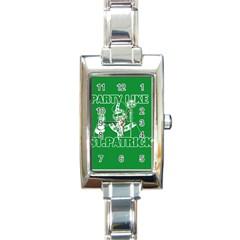 St  Patricks Day  Rectangle Italian Charm Watch by Valentinaart