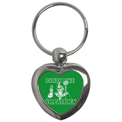 St  Patricks Day  Key Chains (heart)  by Valentinaart