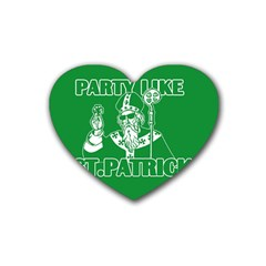 St  Patricks Day  Heart Coaster (4 Pack)  by Valentinaart