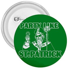 St  Patricks Day  3  Buttons by Valentinaart