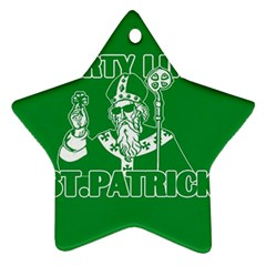 St  Patricks Day  Star Ornament (two Sides) by Valentinaart