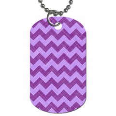 Background Fabric Violet Dog Tag (two Sides)