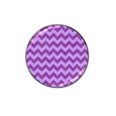 Background Fabric Violet Hat Clip Ball Marker (4 Pack)