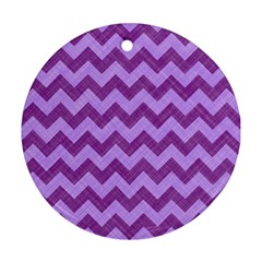 Background Fabric Violet Round Ornament (two Sides)