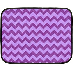 Background Fabric Violet Double Sided Fleece Blanket (mini)